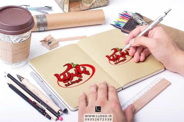 طراحی لوگو فست فود پاپریکا