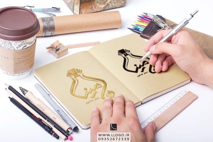 طراحی لوگو عطر هامین
