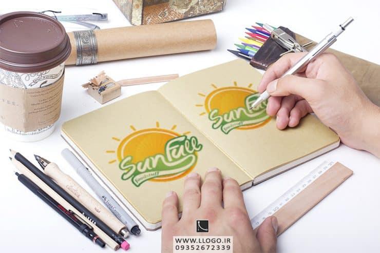 طراحی لوگو مواد غذایی Sun Full