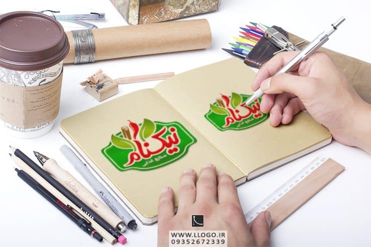طراحی لوگو صنایع غذایی نیکنام