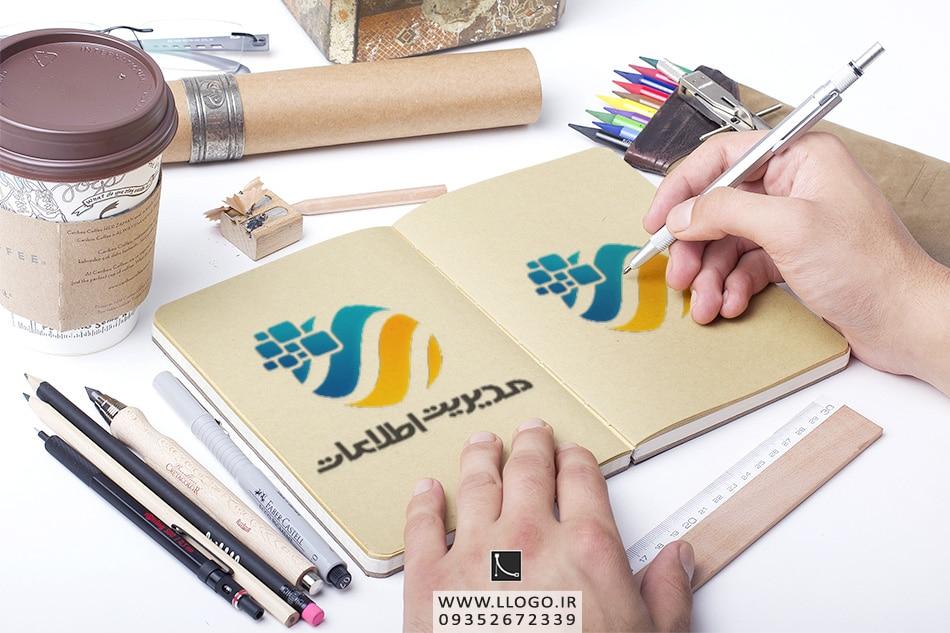 طراحی لوگو مدیریت اطلاعات