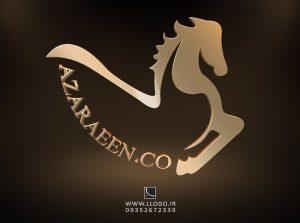 طراحی لوگو شرکت بازرگانی آذر آیین