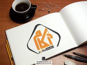 طراحی لوگو جرثقیل آکام