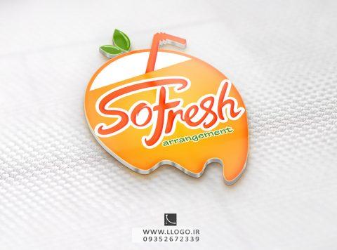 طراحی لوگو فروشگاه so fresh