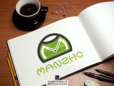 طراحی لوگو فروشگاه ساعت Manzho