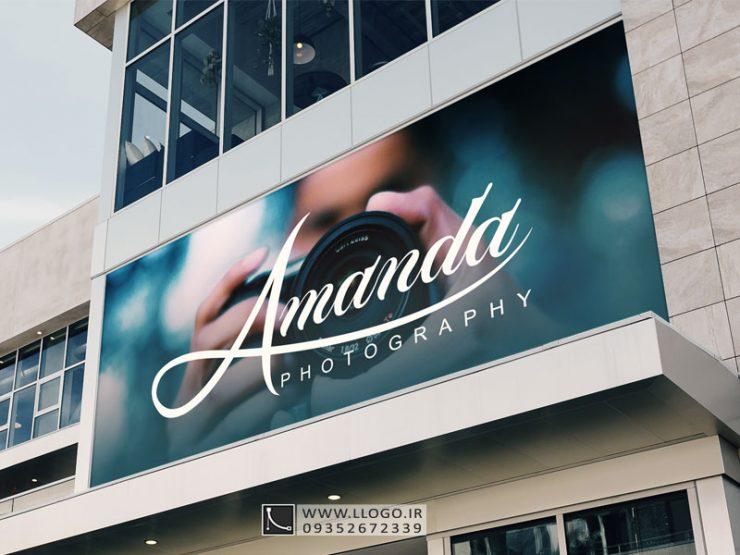 طراحی لوگو عکاسی آماندا