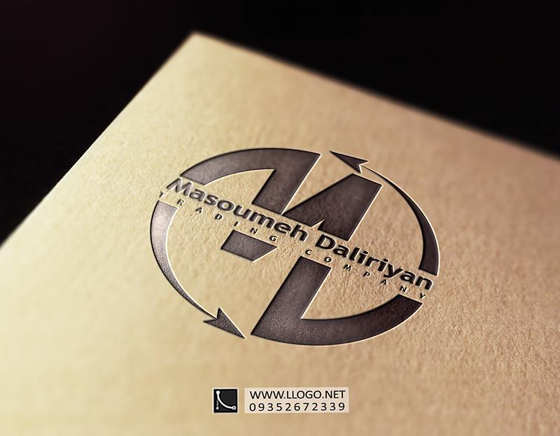 طراحی لوگو شرکت بازرگانی دلیریان